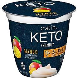:ratio, KETO Friendly Dairy Snack,?Mango, 1?Cup