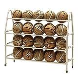 YBWEN Soporte de Baloncesto Rack de Almacenamiento de Deportes de Pelota de Baloncesto Rack for Playgroup Gimnasio escuelas y Balones medicinales (Color : Blanco, tamaño : 139x38x112cm)