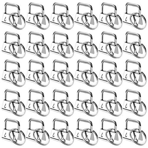 30 Piezas Pulsera Hardware Hardware del Llavero Material del llavero Hardware Hardware para Llavero Key Fob Hardware para Cordón Hecho a Mano Bricolaje Bolso Monedero Fabricación de Suministros