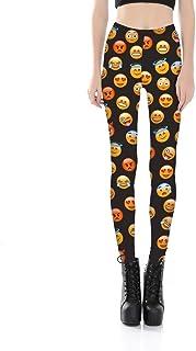 YJKGPZQLZ Yoga Leggings Impresión Emoticones De Cara De Chat para Mujer Leggings Pintados Pantalones con Estampado Digital Pantalones Stretch Plus Size