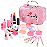 Bloranda Kids Makeup Kit for Girl, Real Washable Makeup Set for Kids Girls, Masquerade, Birthday Friendship Thanksgiving Day Present Gift Toys for 3 4 5 6 7 8 9 10 Year Old Girl