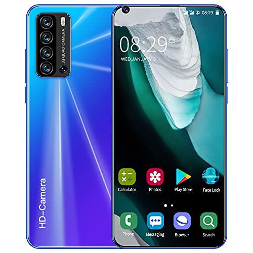 YouthRM Teléfono Desbloqueado, Android 10, V20 Pro 5G Smartphone Desbloqueado, 12GB + 512GB 24MP + 48MP, Pantalla de Gota de Rocío de 7.3 Pulgadas, 5600mah Tres Ranuras para...