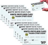 白い特権カード面白い、インスピレーションを与えるカードウォレットカードジョークギフト、幸福と成功のシンボル (10)