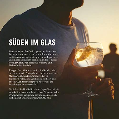 Gin Sul (1x0,5l) Original Dry Gin destilliert und abgefüllt in Hamburg, hochwertige weiße Tonflasche, zarte Aromen von wildem Wacholder und Zistrosen aus Portugal - 7