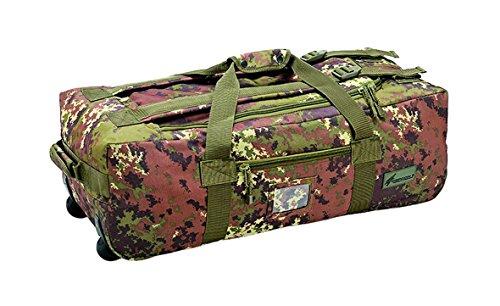 Defcon 5- Trolley da viaggio unisex, Unisex, Trolley Travel Bag, Italian Camo, 80 x 25 x 36 cm