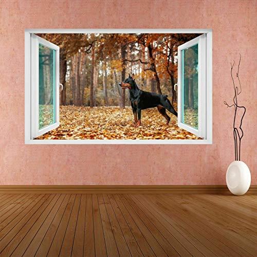 ioljk Doberman Pinscher Perro Animal 3D Etiqueta de la Pared Mural Calcomanía Dormitorio de los niños