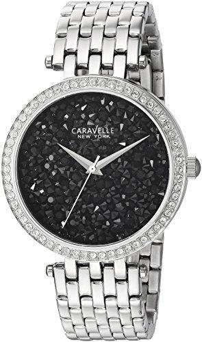 Caravelle New York Women's 43L199 Swarovski Crystal Stainless Steel Watch