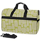 Little Trees 03 - Bolsa de viaje grande para fin de semana para la noche, bolsa de gimnasio con compartimento para zapatos