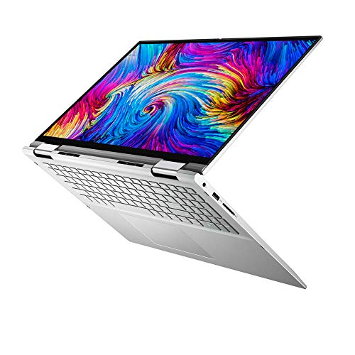Dell Inspiron 17 2-en-1 7706 Ordinateur Portable 17 QHD+ Tactile Platinum Silver (Intel Core i5, 8Go de RAM, 512 Go SSD, Intel Iris XE - UMA Graphics, Windows 10 Home) Clavier AZERTY Français
