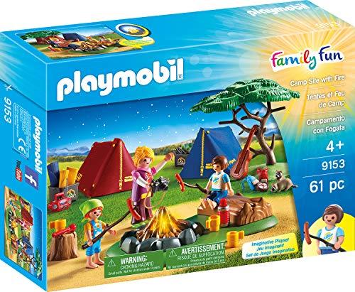 Playmobil 9153 Freizeit Zeltlager mit LED-Lagerfeuer, Mehrfarbig