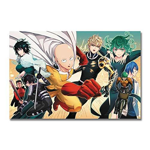 Juego de Personajes de Rompecabezas de Anime_Puzzle Adulto 1000 Piezas_Se Puede Usar como un Juego de Rompecabezas o Pelota de estrés para Adultos_50x75cm