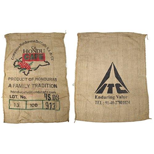 MFH 10 Stück Gebrauchte Kaffeessäcke aus Honduras aus Jute Bedruckt Kaffesack Jutesack 70x90 cm