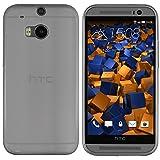 mumbi Hülle kompatibel mit HTC One M8 / M8s Handy Case Handyhülle dünn, transparent schwarz