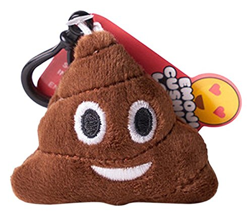 Poo emoji Key Ring - Super Soft, Super Cuddly keyring also known as Smiling Poop. This is an emoji or emoticon keyring from Love Bomb Cushions