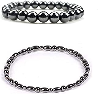 Dr. Kao 2 Pack Magnetic Therapy Anklet Bracelet Plus 2 Pack Magnetic Bracelet for Women Magnetic Bracelets for Arthritis Magnets for Anxiety Relief for Carpel Tunnel Strengthen Immunity