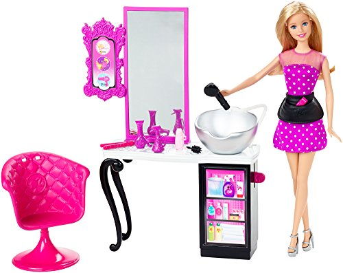 Barbie Salon de Coiffure etpoupée Multicolores Mattel CMM 55