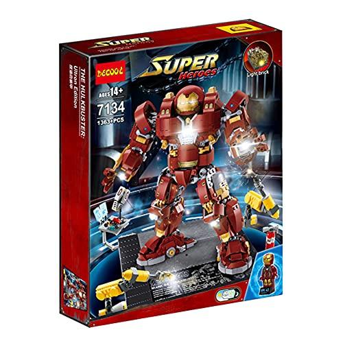 STXBB-Lampe Compatible Lego S Super Hero Steel Anti-Hulk Mech 76105 Boy Monte Block de Madera 07101