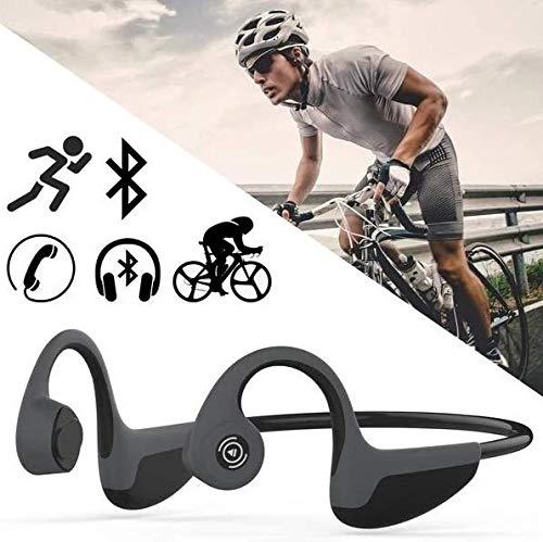 SEWOBYE Auriculares Conduccion Osea, Bluetooth Auriculares de Conducción Osea Soporte de Micrófono/Llamada/Escucha, Auriculares Oseos para Correr, Ciclismo, Senderismo, Gimnasio y Más