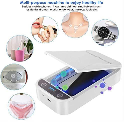 chuxuan Ultraviolett Handy Desinfektion Portable Smartphone Sterilisator Aroma Sterilisator Handy Reiniger mit USB Ladefunktion (für iOS Android Handy Zahnbürste Schnuller Schmuck Uhr