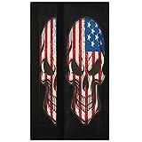 Oarencol Juego de 2 fundas para manija de puerta, diseño de calavera de la bandera americana para decoración de electrodomésticos de cocina para nevera, horno y lavavajillas