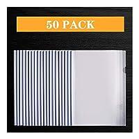 ファイルフォルダ スライドバー、クリップバープレゼンテーションSlidebinderファイル、レッド/ブルー/グリーン/ホワイト/イエロー60ページ容量をクリア前面レポートカバー付き50のレポートカバー 拡張可能なファイルフォルダ (Color : A)