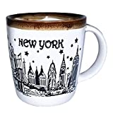New York City Night Skyline Souvenir Ceramic Coffee Mug Long lasting Durable Heavy Solid Base Coffee Cup