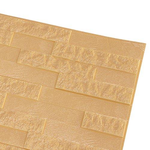 bobo4818 Wandpaneele 3D Tapete Steinoptik Ziegel Tapete Selbstklebend Wandaufkleber für Badezimmer Balkon Raufasertapete Küchen Fliesen küchenschrank (Beige)