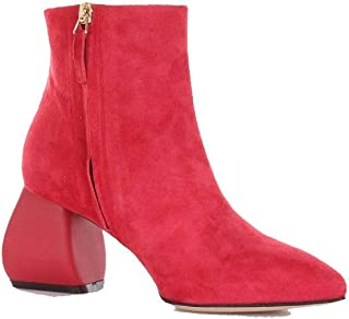 SPACE STYLE CONCEPT Women's SMSRA0401CCOM0027RED Red Suede Ankle Boots