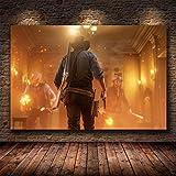 HGlSG DIY Pintar por números Juego Red Dead Redemption 2 Painting ArtImage Pintura por números para Adultos Adecuado para la decoración de la Sala de Estar para niños, estudian40x60cm(Sin Marco)