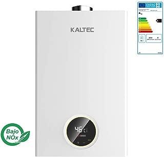 KALTEC 12B-B Calentador de Agua de Solo Butano Gas Calentador de Agua Calentador Automático LED Digital Calentador de Agua Instantáneo Propane 12L [Clase de eficiencia energética A](Butano)