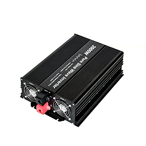 2000W Pure Sine Wave inverter 12V to 230V AC with 2 AC outlets (IP54...