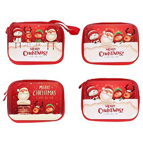 Gadpiparty Jul sötsaker burkar metall godis förvaringsbehållare vit plåt kakburkar med lock byt plånbok mynt hörlurar väska jul semester fest leverans 4 stycken