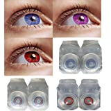 3 Pair of monthly contact lens 1 case & 1 solution 55% water, 35 Phemfilcon A 6 softe lenses in a strile buffered saline solution suitable for both men and female store it in a proper case , always use fresh solution and do not wear it overnight