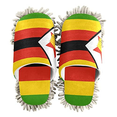 Zimbabwe - Zapatillas de limpieza unisex con diseño de bandera