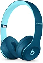 Beats Solo3 Wireless On-Ear Headphones - Beats Pop Collection - Pop Blue (Renewed)