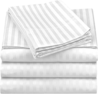 Sheet Set 100 % Cotton Sheets 4 Piece Sheet Set 500 Thread Count Cotton Sheets BedSheet and Pillowcase Long Staple Cotton ...