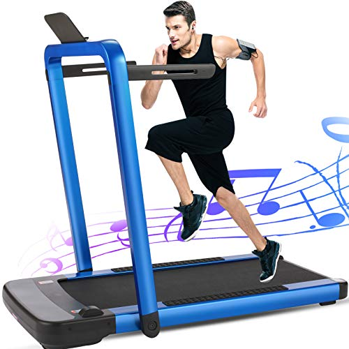 FUNMILY 2 in 1 Folding,2.25HP Under Desk Electric Treadmill Now $359 (Was $720)