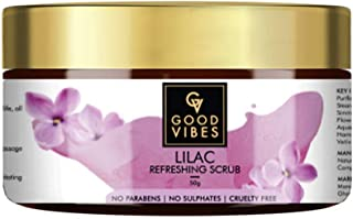 Good Vibes Lilac Face Scrub - 50 g - Skin Exfoliation and Moisturizing for Acne Control, Blemishes and Blackheads - Minera...
