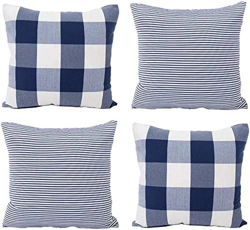 HOPLEE Navy Blue Throw Pillows Philadelphia Mall Covers Year-end gift 16x16 Cov Pillow