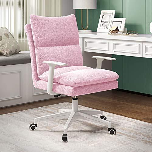 FWNT Bürostuhl,Ergonomischer Computer-Schreibtischstuhl, Drehstuhl Aus Stoff Mit Abnehmbarer Armlehne Und Weicher Tasche