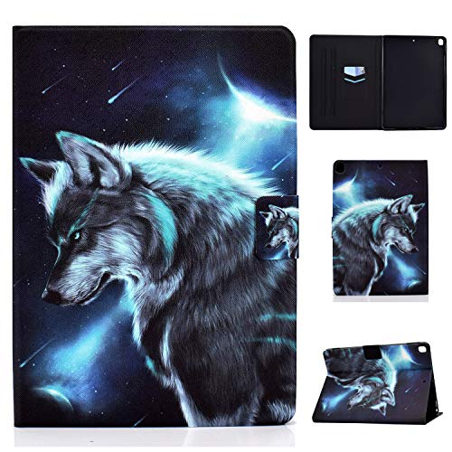 Tedtik Case for iPad Air 3rd Gen 10.5' 2019 / iPad Pro 10.5' 2017/iPad 7th Generation - Ultra Slim Smart Magnetic Back,PU Leather,Multi-angle Front Support Cover,Wolf
