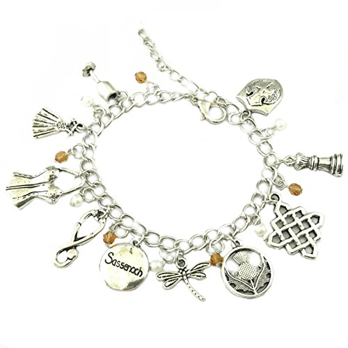 Athena Brand Outlander Charm Bracelet Quality Cosplay Jewelry Cartoon Gaming Comic TV Series with Gift Box