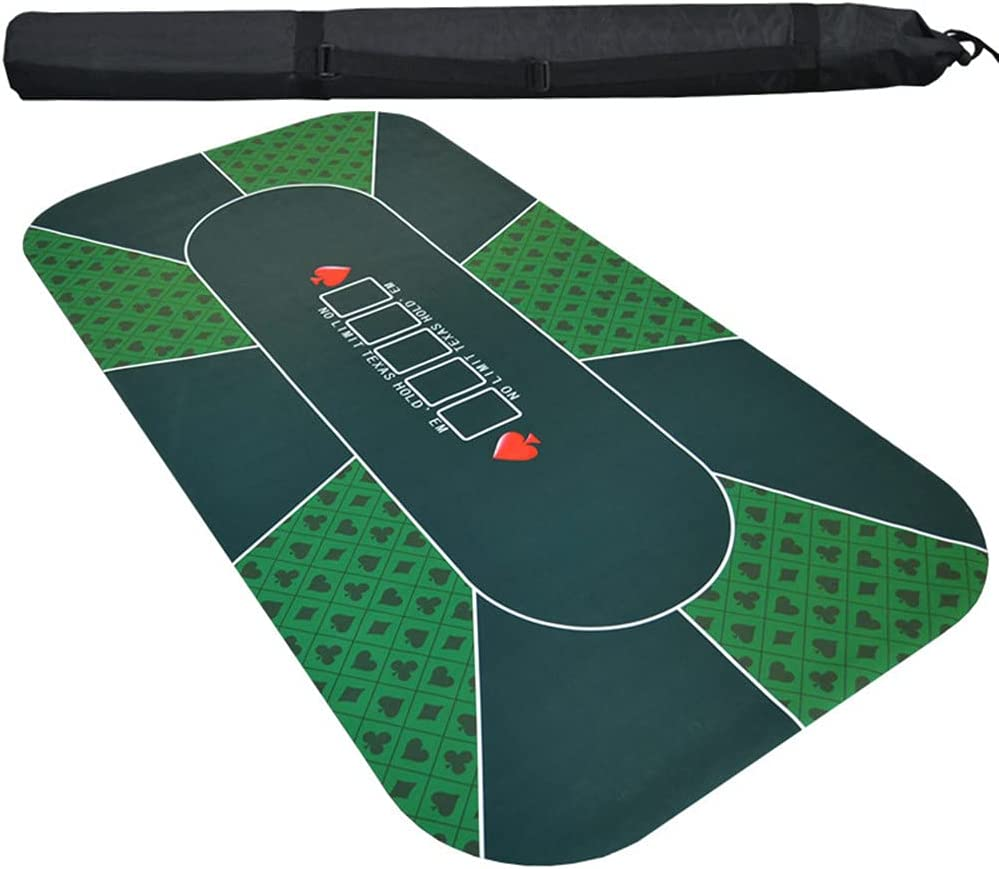 71'' x 36'' Professional Poker Mat Pok Player New Orleans Mall Portable Rubber 8 Price reduction