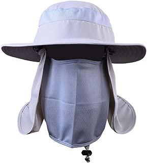 Breathable Detachable Sun Hats Hat Face Neck Cover Ear Flap UV Sun Protection Cap Summer Fishing Unisex Women Men Hats