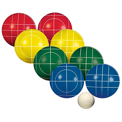 Franklin Sports Bocce Sets - Regulation Bocce Balls and Pallino - Beach and Lawn Bocce Set for Kids and Adults - Advanced, 90mm