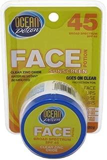 Ocean Potion uncare Face Potion Clear Zinc Oxide, SPF 45 1 oz by Ocean Potion