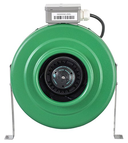 "Hydrofarm ACDF6 Active Air 6"" Inline, 400 CFM Duct Fan, 6"""
