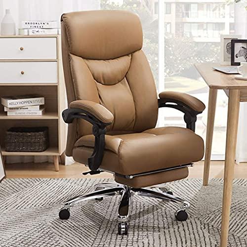 Stuhl Arbeitszimmer Computerstuhl Bürostuhl, Home Reclining Boss Chair, bequemer Drehstuhl, Gaming-Lift-Sitz Happy Life
