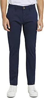 TOM TAILOR Men's Classic Washed Trouser, 24368-Diving Navy Blue, 31