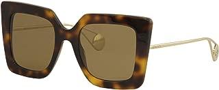 Sunglasses Gucci GG 0435 S- 003 HAVANA/BROWN GOLD